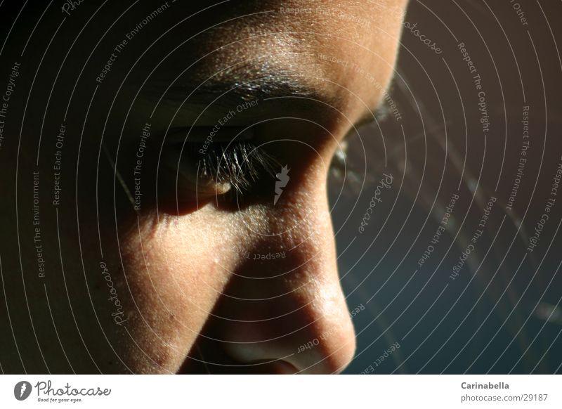 Nachdenklich Frau Gesicht Auge Haare & Frisuren Nase Seitenlicht
