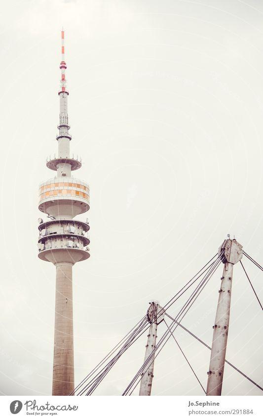 tomorrow my friend Turm Bauwerk Architektur Sehenswürdigkeit Wahrzeichen Fernsehturm hoch trist Stadt grau Kommunizieren Surrealismus München Farbfoto