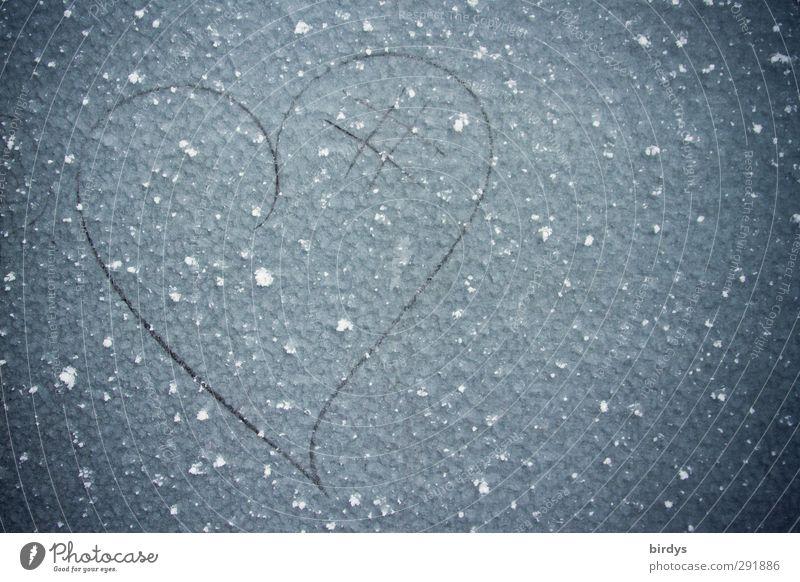 kaltes Herz Winter Eis Frost Metall Zeichen ästhetisch einfach einzigartig Originalität schön Glück Liebe Verliebtheit Partnerschaft Kreativität Lebensfreude