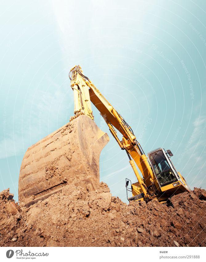 Mann tut was Mann kann Arbeit & Erwerbstätigkeit Arbeitsplatz Baustelle Industrie Dienstleistungsgewerbe Mittelstand Umwelt Urelemente Erde Himmel