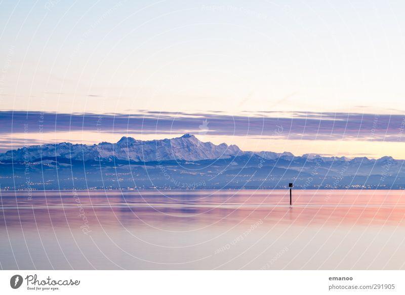 Säntis und Altmann Himmel Natur blau Ferien & Urlaub & Reisen Wasser Winter Wolken Landschaft Ferne Berge u. Gebirge kalt Küste See Luft Eis Wetter