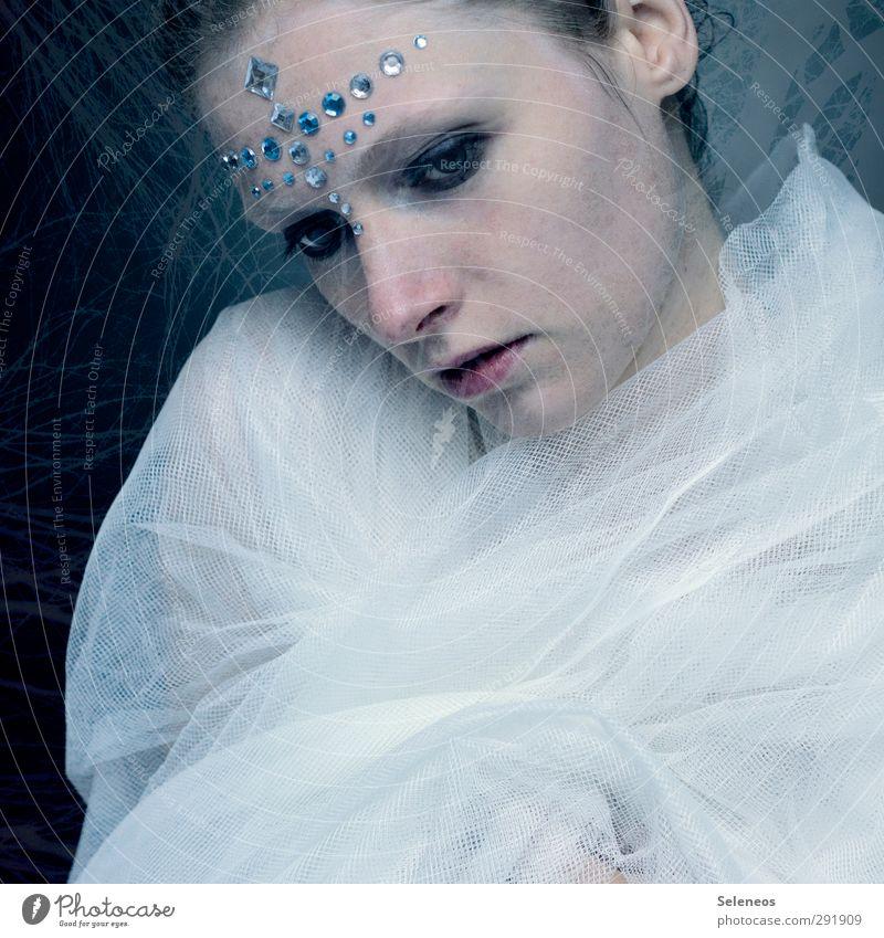 . elegant Stil schön Körper Haut Gesicht Kosmetik Schminke Mensch feminin Frau Erwachsene 1 Theaterschauspiel Stoff Accessoire Schmuck glänzend träumen
