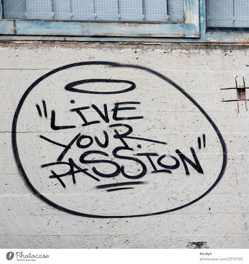 Guter Rat Mauer Wand Beton Metall Schriftzeichen Graffiti authentisch Erfolg positiv blau grau schwarz Lebensfreude Optimismus Mut Weisheit Neugier Hoffnung