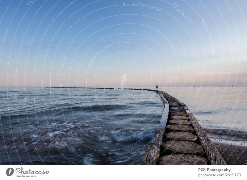 Endless flow Himmel Natur Sommer Wasser Landschaft Meer Einsamkeit Ferne Herbst Frühling Horizont Wellen Europa Kraft Schönes Wetter Seeufer