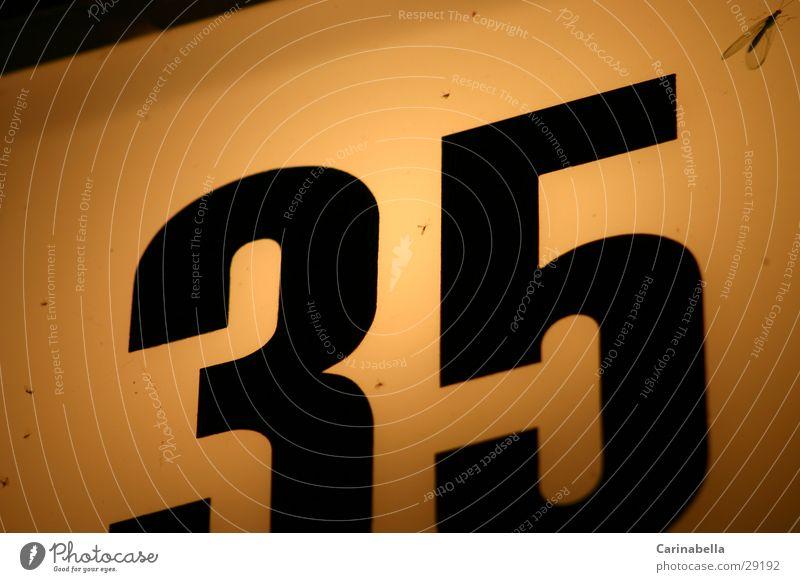 35 Lampe Ziffern & Zahlen obskur Hausnummer
