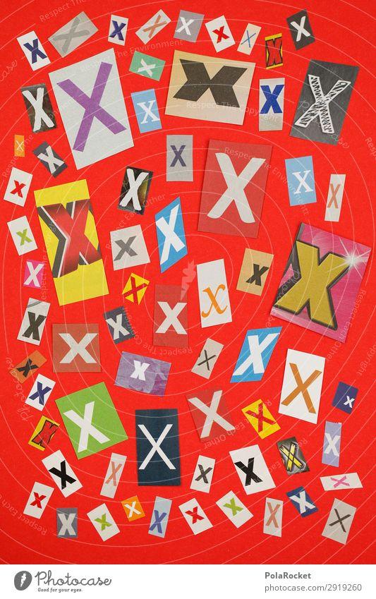 #A# XMIX Kunst Kunstwerk ästhetisch x Buchstaben Buchstabensuppe Typographie Sprache Kreativität Chatten Wahlen wählen Wahlkampf Kreuz Farbfoto mehrfarbig