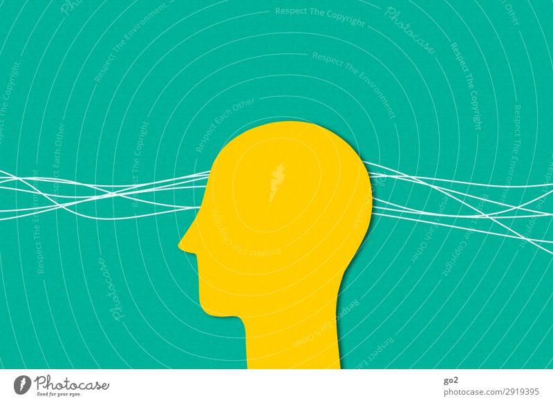 Wahrnehmung Mensch Kopf 1 Linie ästhetisch gelb grün Gefühle achtsam Wachsamkeit Stress Gesundheit Zufriedenheit Identität einzigartig Inspiration Sinnesorgane
