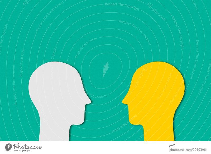 Kommunikation Basteln Sitzung sprechen Team Mensch Kopf 2 Papier Kommunizieren ästhetisch einfach Partnerschaft Gesellschaft (Soziologie) Identität einzigartig