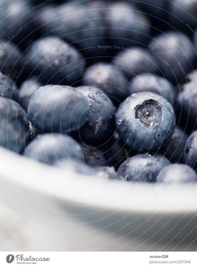 Schüssel Blau Lebensmittel Frucht Ernährung Frühstück Bioprodukte Vegetarische Ernährung Diät Kunst ästhetisch blau blau-weiß Blaubeeren Blauton