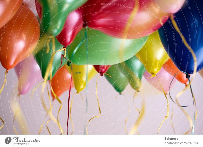 Party Entertainment Veranstaltung Feste & Feiern Karneval Geburtstag Luftballon fliegen hängen Fröhlichkeit viele mehrfarbig Freude Glück Lebensfreude Vorfreude