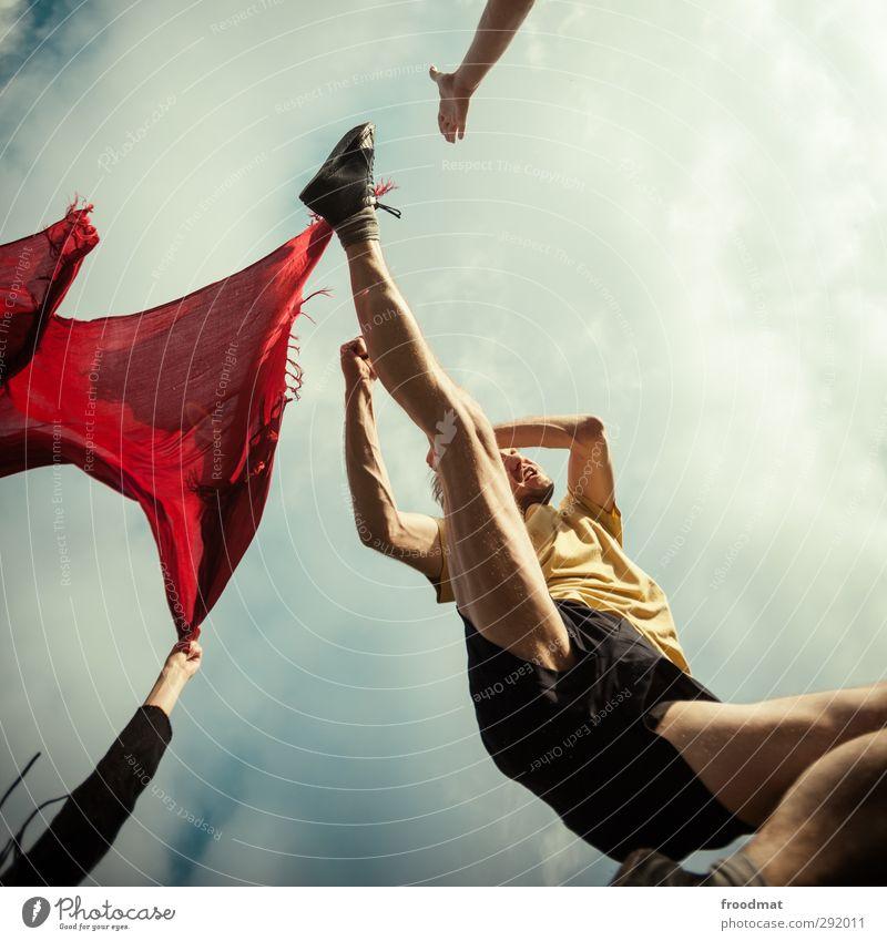 torero Mensch Mann Jugendliche Erwachsene Junger Mann Sport Bewegung springen maskulin Kraft wild bedrohlich Fitness sportlich Wut Gewalt
