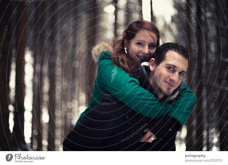 dream together Mensch Frau Natur Mann Jugendliche Baum Freude Winter Wald Junge Frau Erwachsene Liebe Junger Mann Leben feminin Gefühle