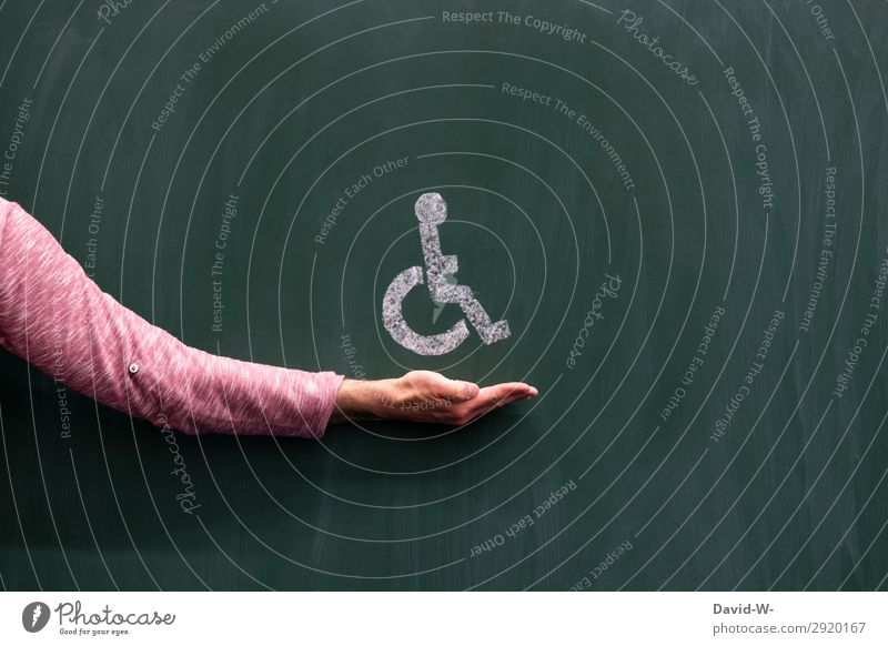 Rollstuhlfahrersymbol Mann Mensch verletzt Verletzung Krank krankgeschrieben ausfall Unfall Gesundheit Schmerz Gesundheitswesen alter arbeitsunfähigkeit