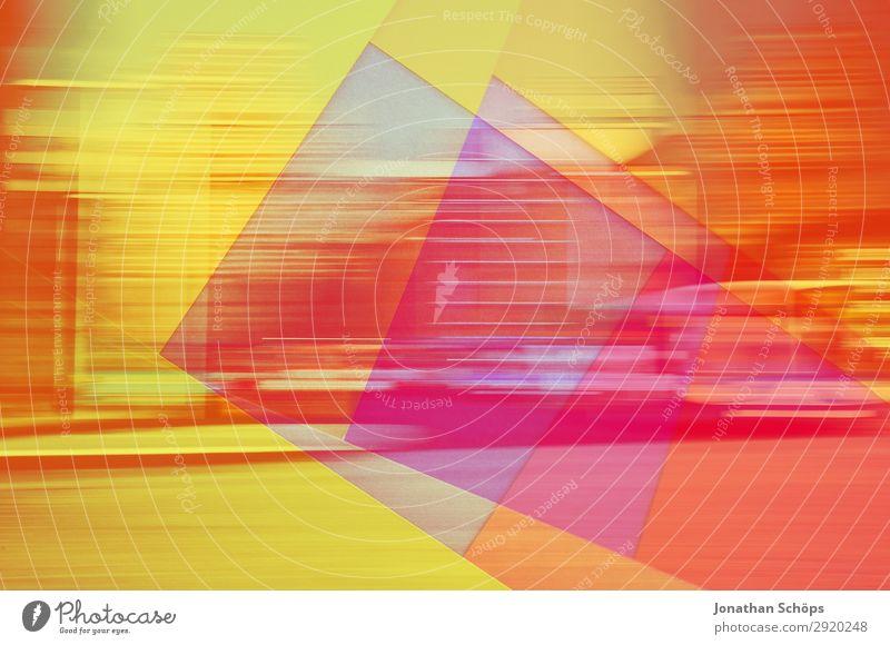 grafisches Hintergrundbild mit Papier und Bewegungsunschärfe Stadt rot Ferne gelb Textfreiraum Stadtleben Linie Aussicht ästhetisch Geschwindigkeit Ecke