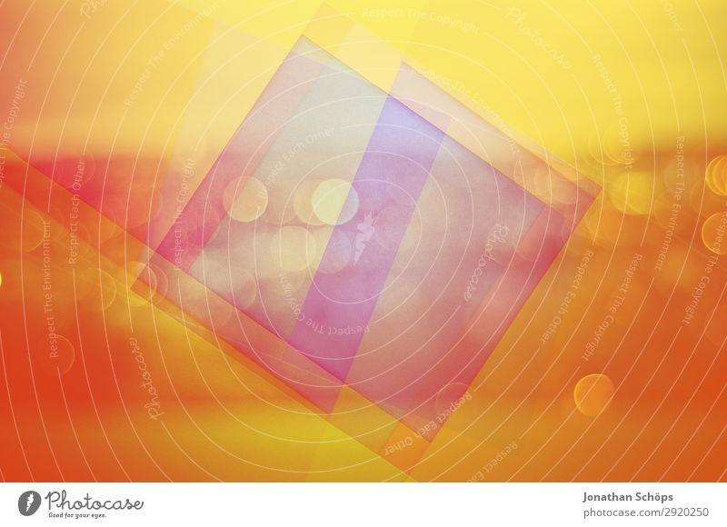grafisches Hintergrundbild mit Bokeh und Papier Natur blau Stadt Landschaft rot Ferne gelb Textfreiraum Linie Aussicht ästhetisch Ecke graphisch eckig