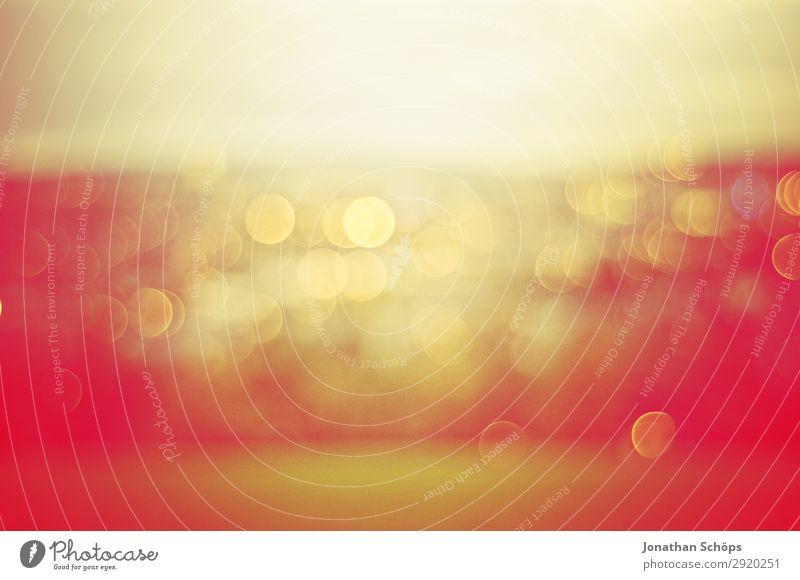 grafisches Hintergrundbild Bokeh Natur blau Stadt Landschaft rot Ferne Leben gelb Stadtleben Aussicht ästhetisch graphisch Rahmen Optimismus Warme Farbe