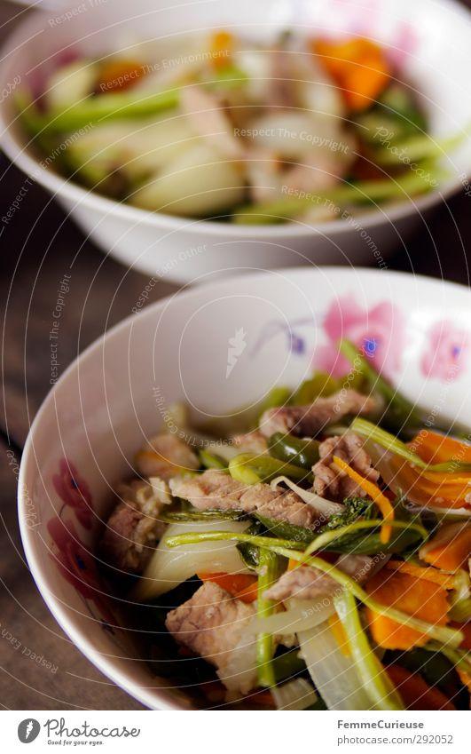Cambodian Food. weiß Wärme Blüte braun rosa Lebensmittel Speise Tisch Ernährung Fisch genießen Foodfotografie Asien Gemüse Geschirr Tradition