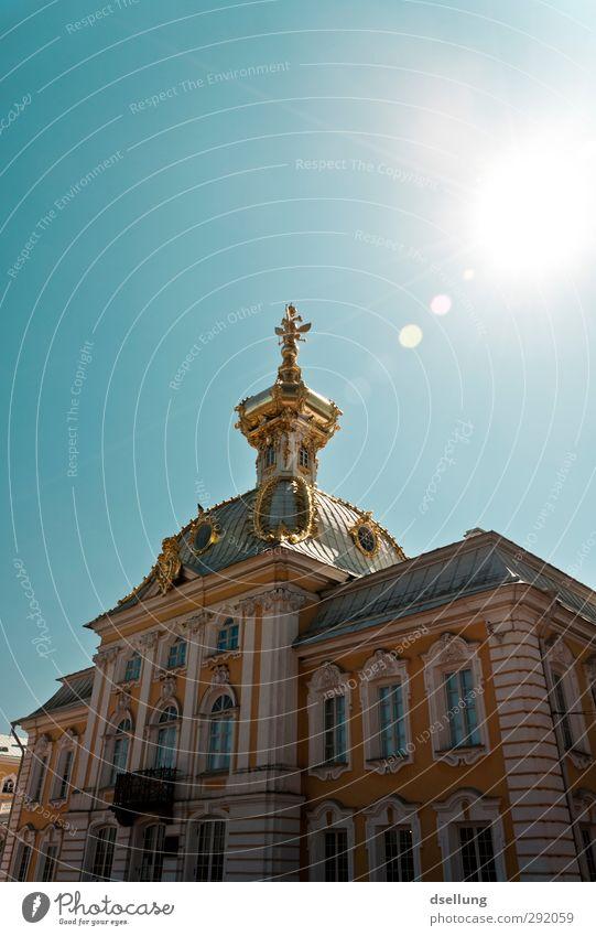 Im nächsten Leben... St. Petersburg Russland Traumhaus Palast Burg oder Schloss Bauwerk Gebäude Architektur Fassade Balkon Fenster Dach Sehenswürdigkeit alt