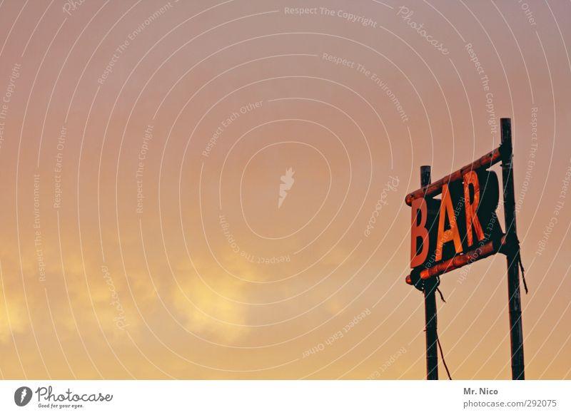 unscheinBAR Himmel Ferien & Urlaub & Reisen Wolken Feste & Feiern Lifestyle leuchten Schilder & Markierungen Schriftzeichen Gastronomie Bier Sommerurlaub