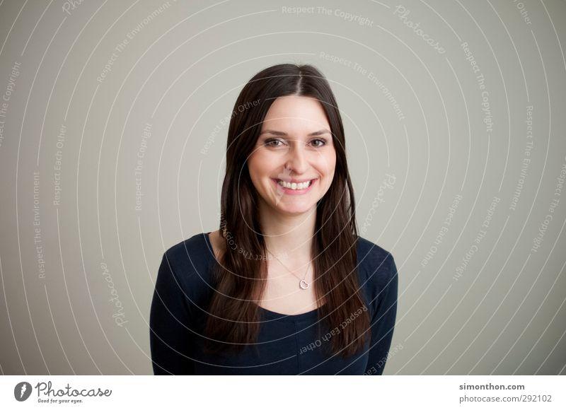 Grinsebacke Mensch Jugendliche Freude Erwachsene 18-30 Jahre feminin sprechen Glück Business Zufriedenheit Erfolg Fröhlichkeit lernen Studium Lebensfreude
