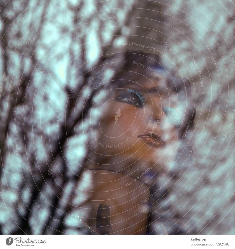 toothpaste kisses Mensch feminin Junge Frau Jugendliche Kopf Gesicht Auge 1 Blick Schaufenster Schaufensterpuppe Werbebranche Baum Autofenster Farbfoto