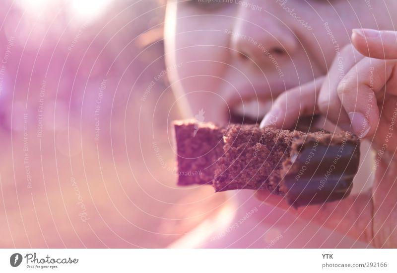 Chocolicious Mensch Frau Kind Jugendliche Junge Frau Hand 18-30 Jahre Gesicht Erwachsene Essen feminin Glück Party 13-18 Jahre genießen Finger