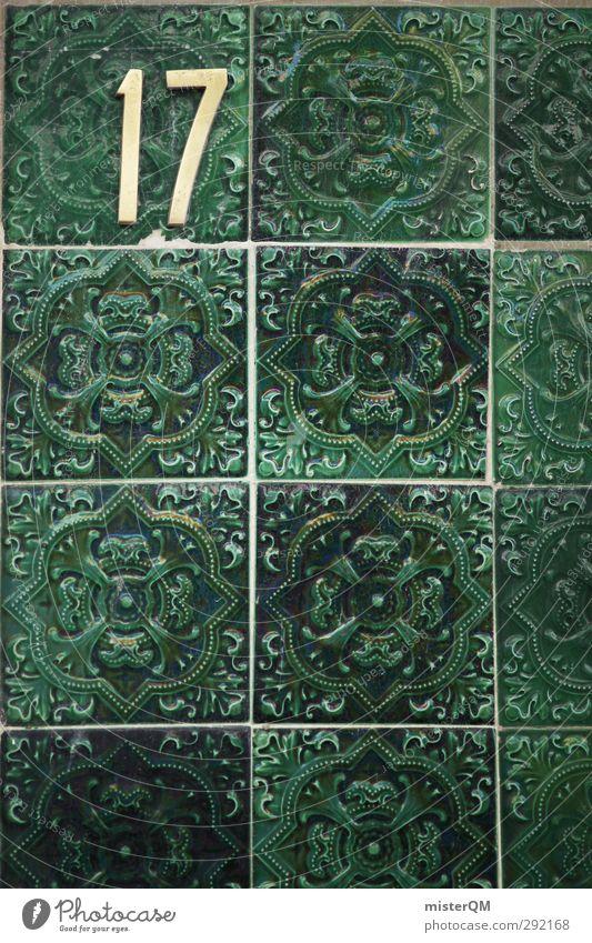 When I was 17. Kunst ästhetisch Fliesen u. Kacheln Kachelofen Portugal Lissabon Fassade Wand Fassadenverkleidung grün Dekoration & Verzierung Muster