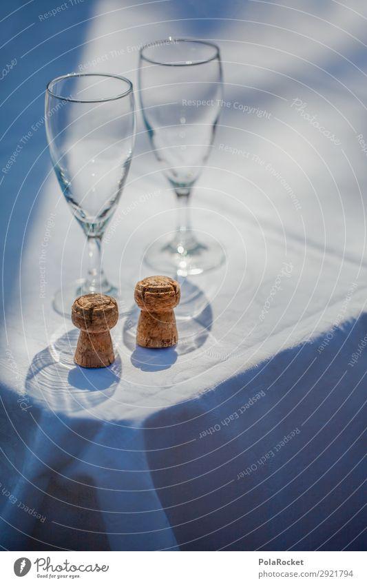 #A# Sekte Kunst ästhetisch Sektglas Alkohol Jubiläum Zuprosten Feste & Feiern Sektkorken 2 Geburtstag Farbfoto Gedeckte Farben Außenaufnahme Detailaufnahme
