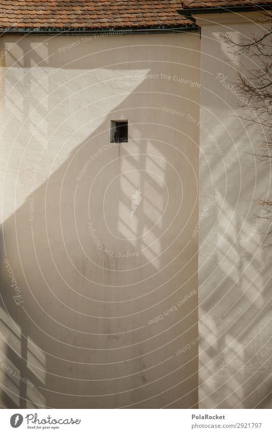 #A# Bautzner Loch Kunst Kunstwerk ästhetisch Fassade Fassadenverkleidung Fenster klein Schattenspiel Bautzen Farbfoto Gedeckte Farben Außenaufnahme
