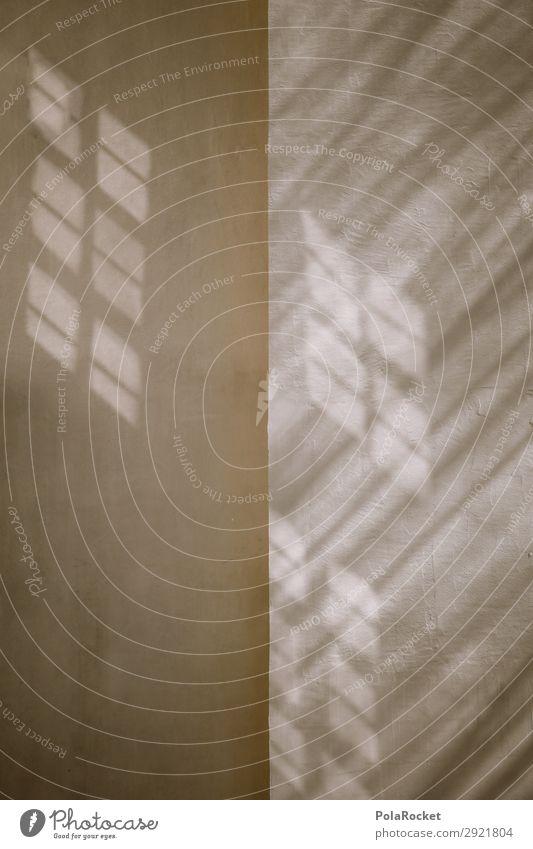 #A# LichtWall Kunst ästhetisch Wand Mauer Lichtspiel Schatten Schattenspiel Farbfoto Gedeckte Farben Außenaufnahme Detailaufnahme Experiment abstrakt
