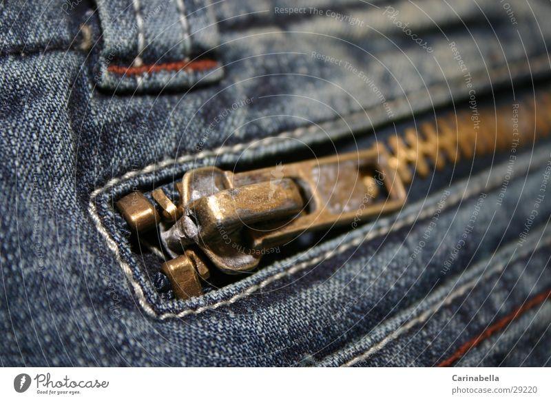 Zipper Jeanshose obskur Reißverschluss verwaschen
