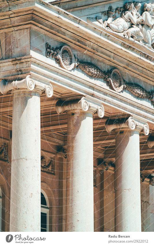 Ionensäulen in Lissabon, Portugal Gebäude Großstadt Ferien & Urlaub & Reisen Stein Spiralen altehrwürdig vertikal Tempel Strukturen & Formen Kraft Römer Ständer