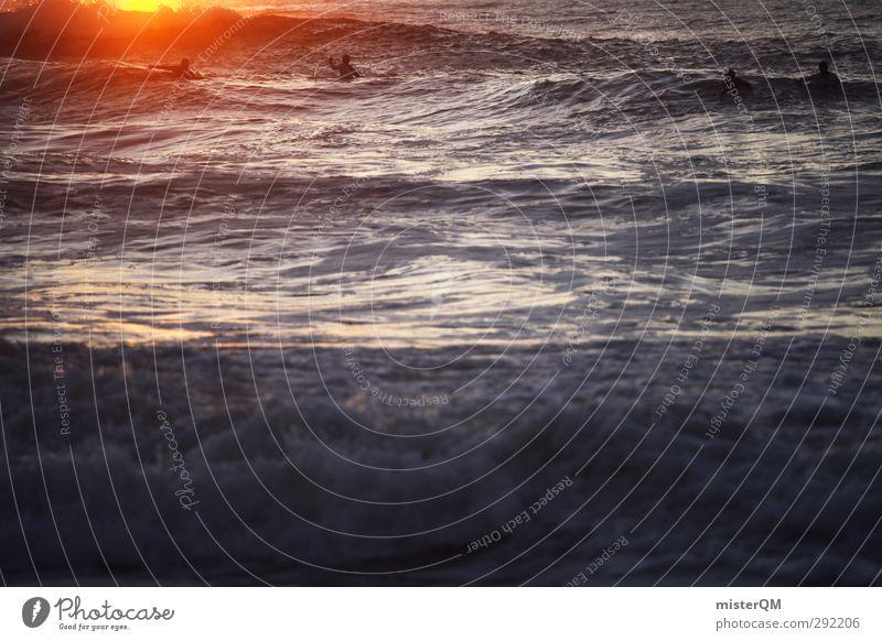 To the Sun. Ferien & Urlaub & Reisen Meer Sport Kunst Freiheit Horizont frei Wellen ästhetisch Romantik Hoffnung sportlich Surfen Feierabend Wassersport