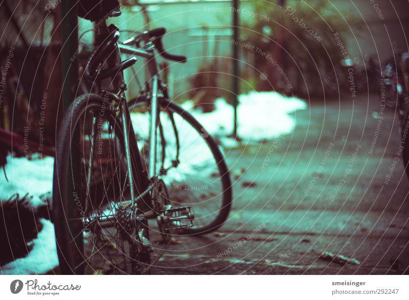 Fahrrad parken Stadt Einsamkeit Erholung Umwelt Sport Bewegung Stil Fahrrad Freizeit & Hobby Lifestyle Fitness Fahrradfahren Asphalt Sport-Training Kette nachhaltig