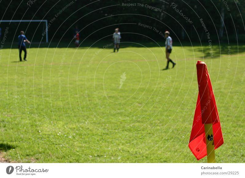Ecke Sport Fußball Fahne Fußballplatz