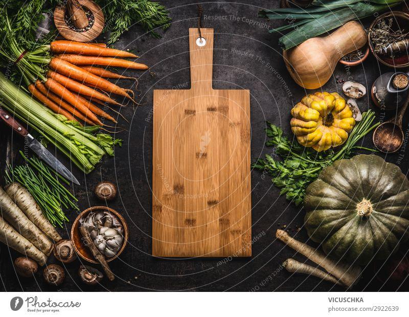 Herbst saisonales Essen Hintergrund Lebensmittel Gemüse Ernährung Bioprodukte Vegetarische Ernährung Diät kaufen Stil Design Gesunde Ernährung Erntedankfest