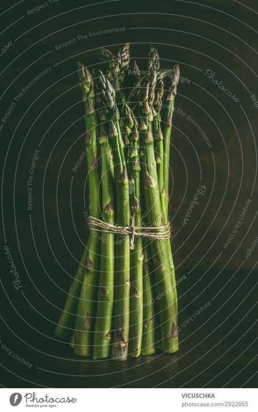 Grüne Spargel Bunde Lebensmittel Gemüse Ernährung Bioprodukte Vegetarische Ernährung Diät Design Gesundheit Gesunde Ernährung Stil Spargelzeit Spargelbund