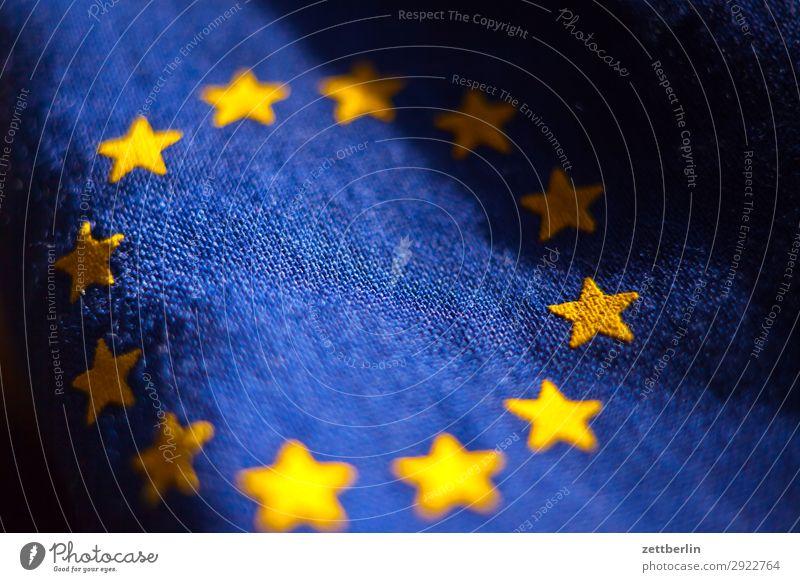 Sterne Baumwolle blau Design Euro Europa Europafahne Fahne Falte gelb Stoff gold Kreis Stern (Symbol) Symbole & Metaphern Textilien Wahrzeichen exit brexit