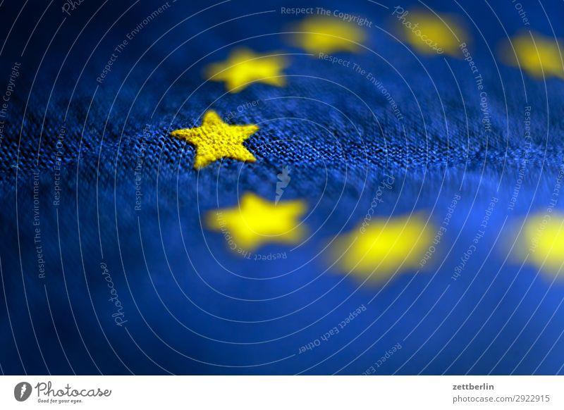 Puls von Europa Baumwolle blau Design euro Europafahne Fahne Falte gelb Stoff gold Kreis Stern (Symbol) Symbole & Metaphern Textilien Wahrzeichen exit brexit