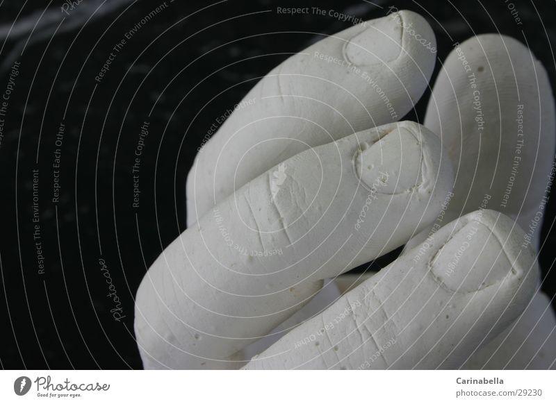 Gipshand Hand Finger weiß obskur Abguss
