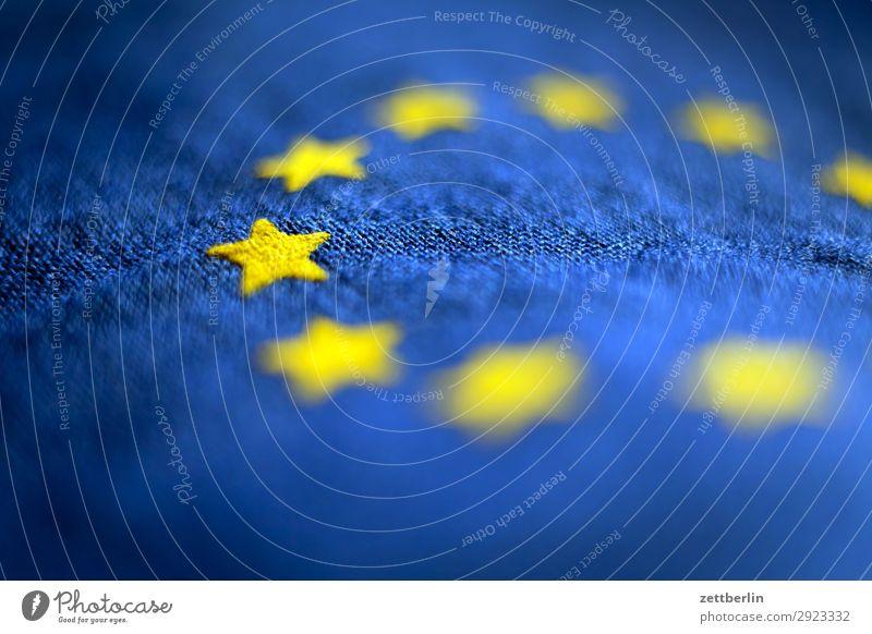 Europafahne Baumwolle blau Design Eurozeichen Fahne Falte gelb Stoff gold Kreis Stern (Symbol) Symbole & Metaphern Textilien Wahrzeichen exit brexit verfallen
