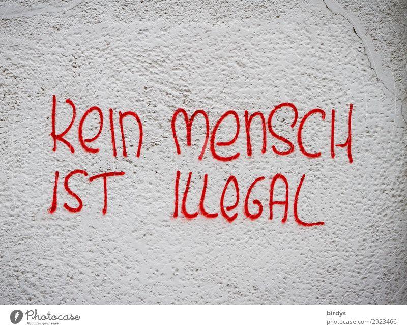 An Alle, für Alle Mauer Wand Schriftzeichen Graffiti schreiben authentisch einzigartig positiv grau rot Gefühle Akzeptanz Schutz Einigkeit Mitgefühl