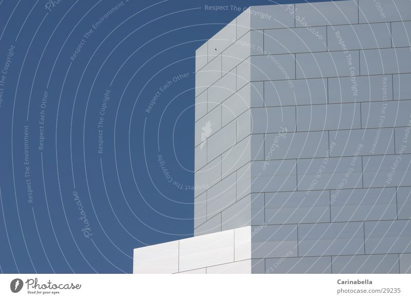 Fensterlos Haus Fassade Aluminium Architektur fensterlos Hochaus