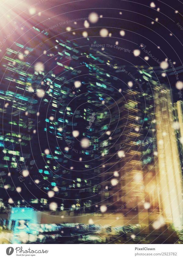 urbane Hochhäuser Lifestyle Ferien & Urlaub & Reisen Tourismus Städtereise Nachtleben Wirtschaft Baustelle Stadt Hauptstadt Skyline Haus Verkehr