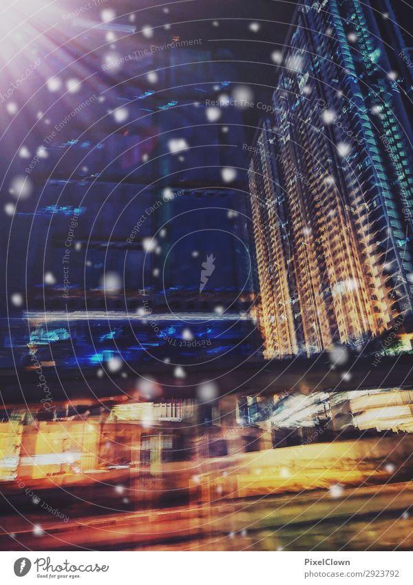 urbane Hochhäuser Lifestyle Ferien & Urlaub & Reisen Tourismus Städtereise Nachtleben Baustelle Umwelt Stadt Hauptstadt Stadtzentrum Haus Hochhaus Verkehr