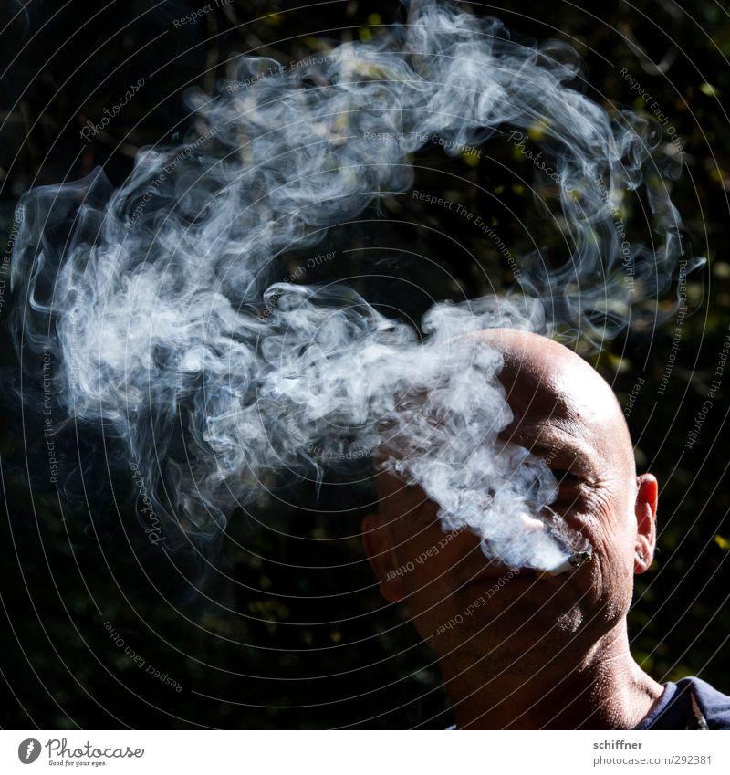 RRR - Ringelrumrauchen Mensch maskulin Mann Erwachsene Freundschaft Kopf Gesicht 1 30-45 Jahre Rauchen authentisch Coolness rauchend Rauchzeichen Rauchwolke