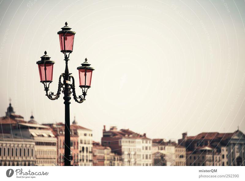 Dreierlei. Kunst ästhetisch Venedig Lampe Fernweh Tourismus Altertum Italien Ferien & Urlaub & Reisen Urlaubsfoto rosa Städtereise Reisefotografie Laterne