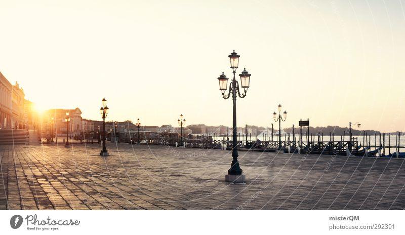 Zum Frühstück in Italien. Kunst ästhetisch Kunstwerk Sonnenaufgang Laterne Venedig Veneto Reisefotografie Reiseführer Fernweh Wärme friedlich Idylle Promenade