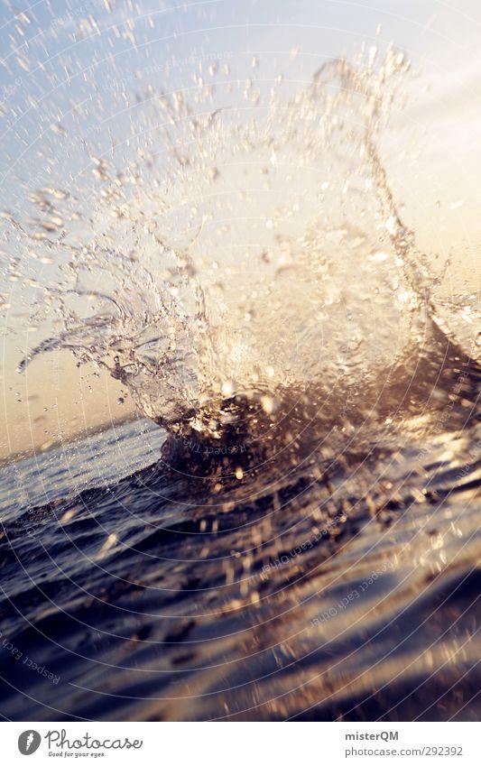 Kawusch! Kunst ästhetisch Wassertropfen Wasseroberfläche spritzen Klatschen Meer Meerwasser Ferien & Urlaub & Reisen Urlaubsfoto Urlaubsstimmung nass Gardasee