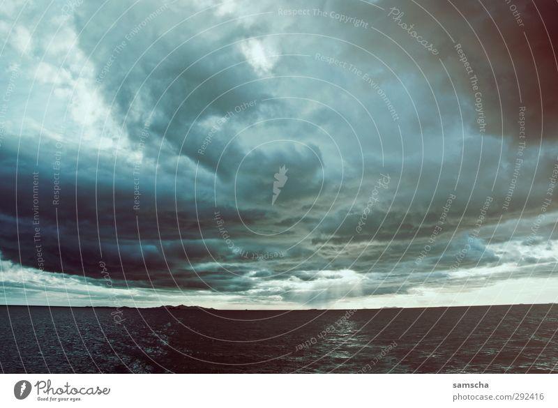Sturmfront Natur Ferien & Urlaub & Reisen Wasser Sommer Meer Wolken Umwelt Ferne Freiheit Wetter Wind wild Klima Tourismus Insel Ausflug